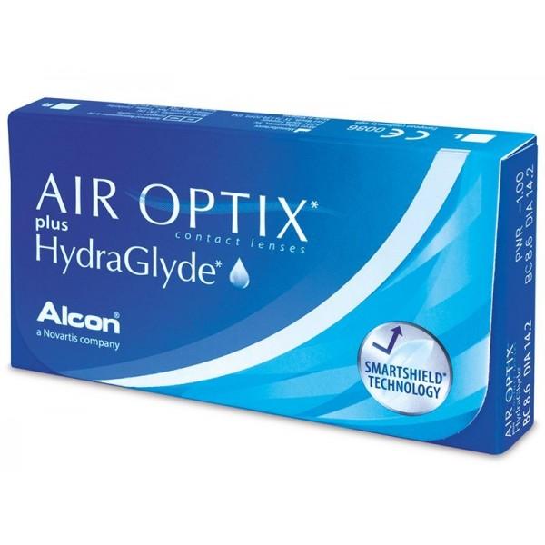 AIR OPTIX Plus HydraGlyde  (АКЦИЯ 6шт +1 в подарок)